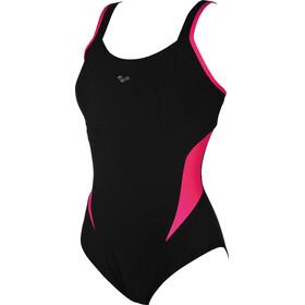 arena Makimurax Low C Cup Jednoczęściowy strój kąpielowy Kobiety, black-rose violet